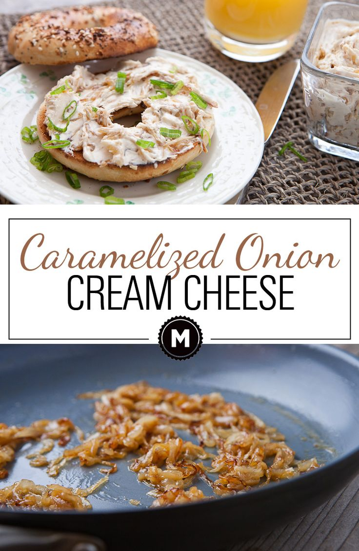 Caramelized Onion Cream Cheese: This recipe takes some time, but it's completely easy and pretty hands off. The result is a decadent and rich cream cheese spread that's good on any number of things, but mostly BAGELS. Read the post for my Caramelized Onion tips and tricks!!