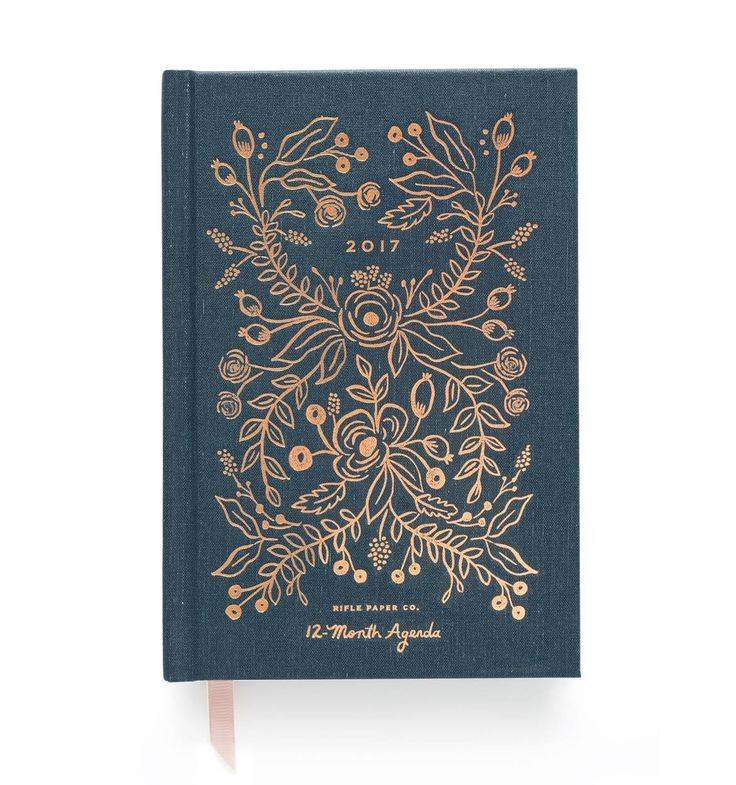 2017 Midnight 12-Month Agenda by RIFLE PAPER Co. | Imported