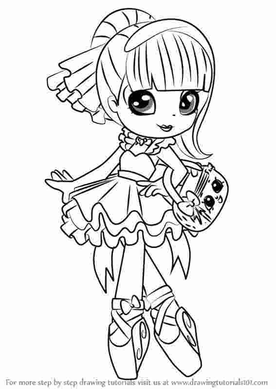 Shopkins Shoppies Dolls Coloring Pages Shopkins Doll Printables