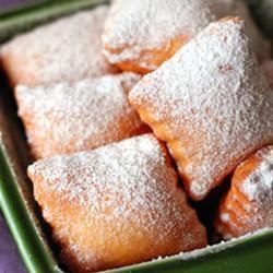 Beignets - made em several times! Can't keep from eating them almost as soon as they're done... SO warm and yummy and sweet! Not your everyday breakfast, as you'll need to do your dough the night before.  Reminds me of Cafe' Du Monde in the French Quarter ..... Ahhhhh the aroma!
