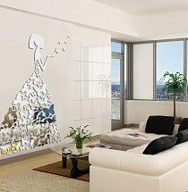 Акриловое декоративное зеркало: Леди-бабочка