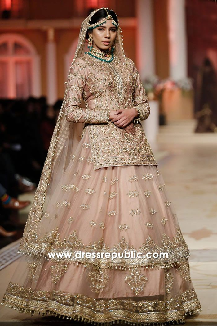 5a8f133991 Light Tea Pink Vitale | elegant | Pink bridal lehenga, Bridal ...