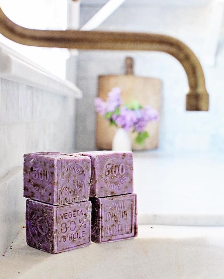 The cubes of French lavender soaps are back in stock. We sell these in a set of four. The link to our online shop is in our profile.