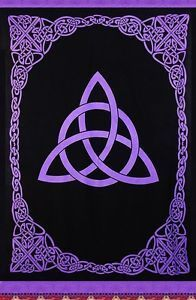 Celtic Purple Triquetra Tapestry With Fringe 70 X 104 Wiccan Wallpaper Witch Wallpaper Book Of Shadows