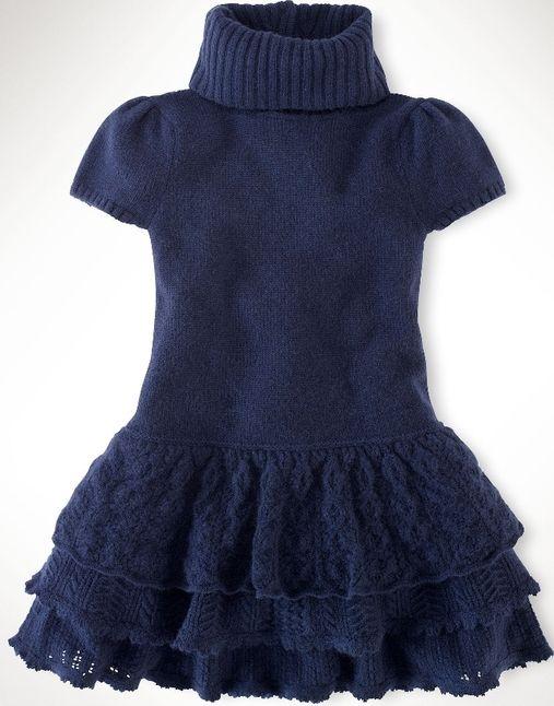 Вязаное платье для девочки со схемами