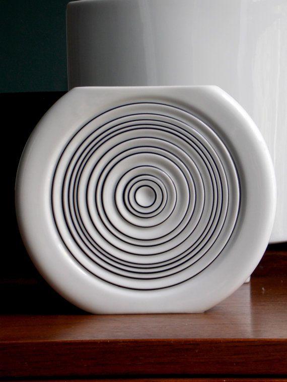 White Modern Vase Hans Theo Baumann Rosenthal by MidCenturyFLA