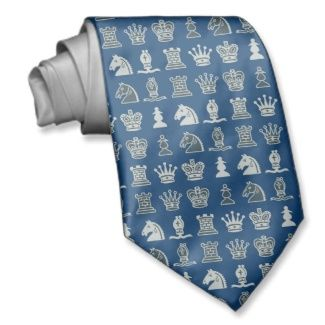 hoe fout! Chess Pieces in Rows Neckwear