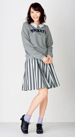 襟付きプルオーバーが可愛い♪ ☆ティーンズのスタイル・ファッション コーデ集☆