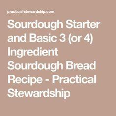 4 Ingredient Sourdough Bread – Barbara Sinn
