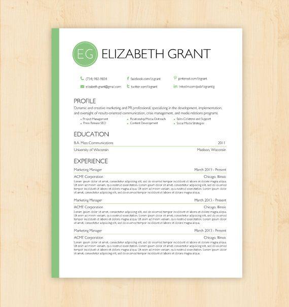 108 Best MS Word Resume Templates Images On Pinterest Cv Design
