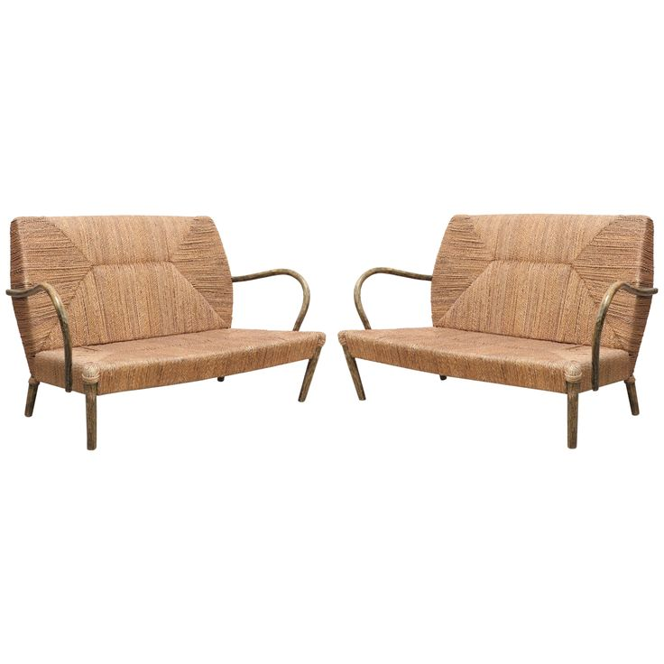 A Pair Of Loveseats   Belgium 1970s | From A Unique Collection Of Antique  And Modern