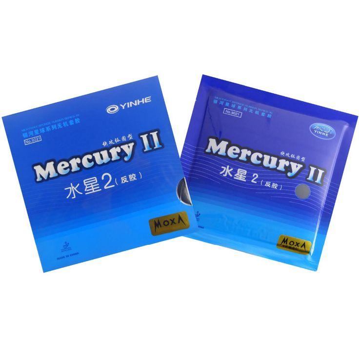 Asli yinhe milky way galaxy mercury ii mercury2 pingpong pips-in tenis meja karet dengan sponge