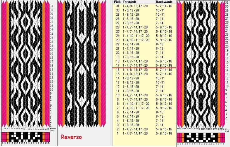 Enhebrados inversos // 20 tarjetas, 4 colores, repite cada 16 movimientos // sed_901 diseñado en GTT༺❁