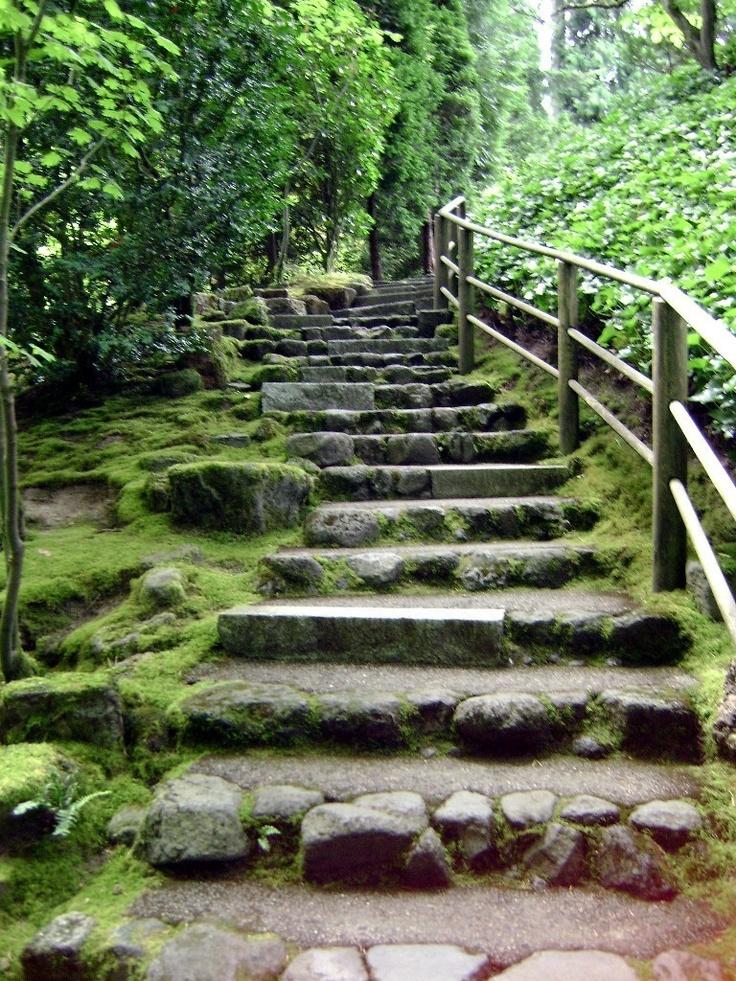 Japenese Garden stair case.