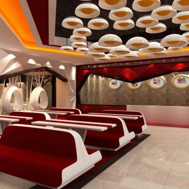 "The project ""Red chick'n"" fast food restaurant was located at Jamuna Future Park, Dhaka, Bangladesh. zero inch interior's hired for designed a new concept for a new  brand of fast food restaurant"