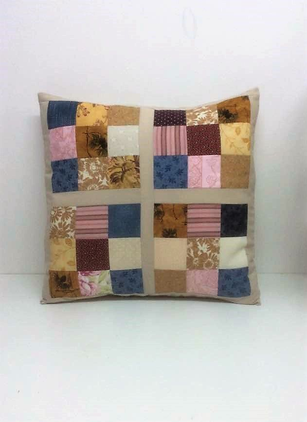neutral cushions patchwork cushion cover cotton coussin patchwork squares unique cushions - Home Decor Cushions