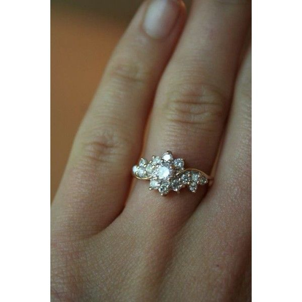 9 Best Vintage Engagement Rings Liked On Polyvore Featuring