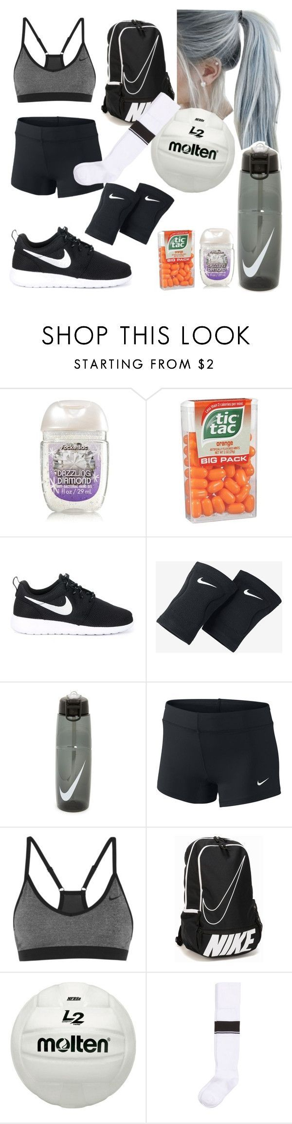 """Volleyball practice"" by scatteredstripes ❤ liked on Polyvore featuring NIKE"
