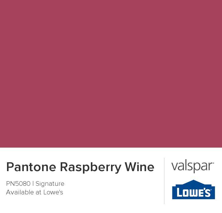 Pantone Raspberry Wine From Valspar Paint Pinterest