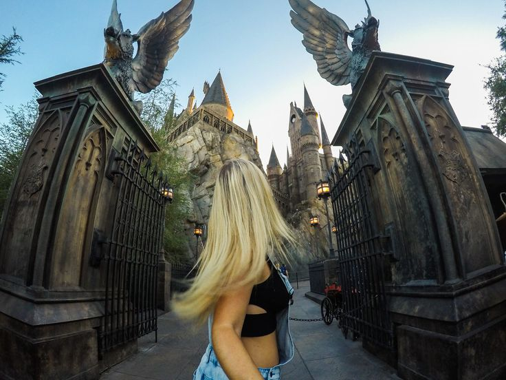 Visit the Wizarding World of Harry Potter! Treat your inner bookworm by visiting Universal Orlando's tribute to the world of Harry Potter. Ride the Hogwarts Express into Diagon Alley, wander through the streets of Hogsmeade and slurp down Butter Beer at the Leaky Cauldron. #GoProGirl #GoProTravel