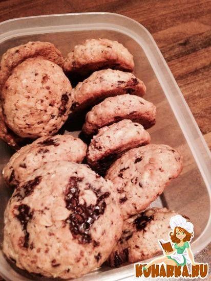 Рецепт: Овсяные печенья с шоколадом