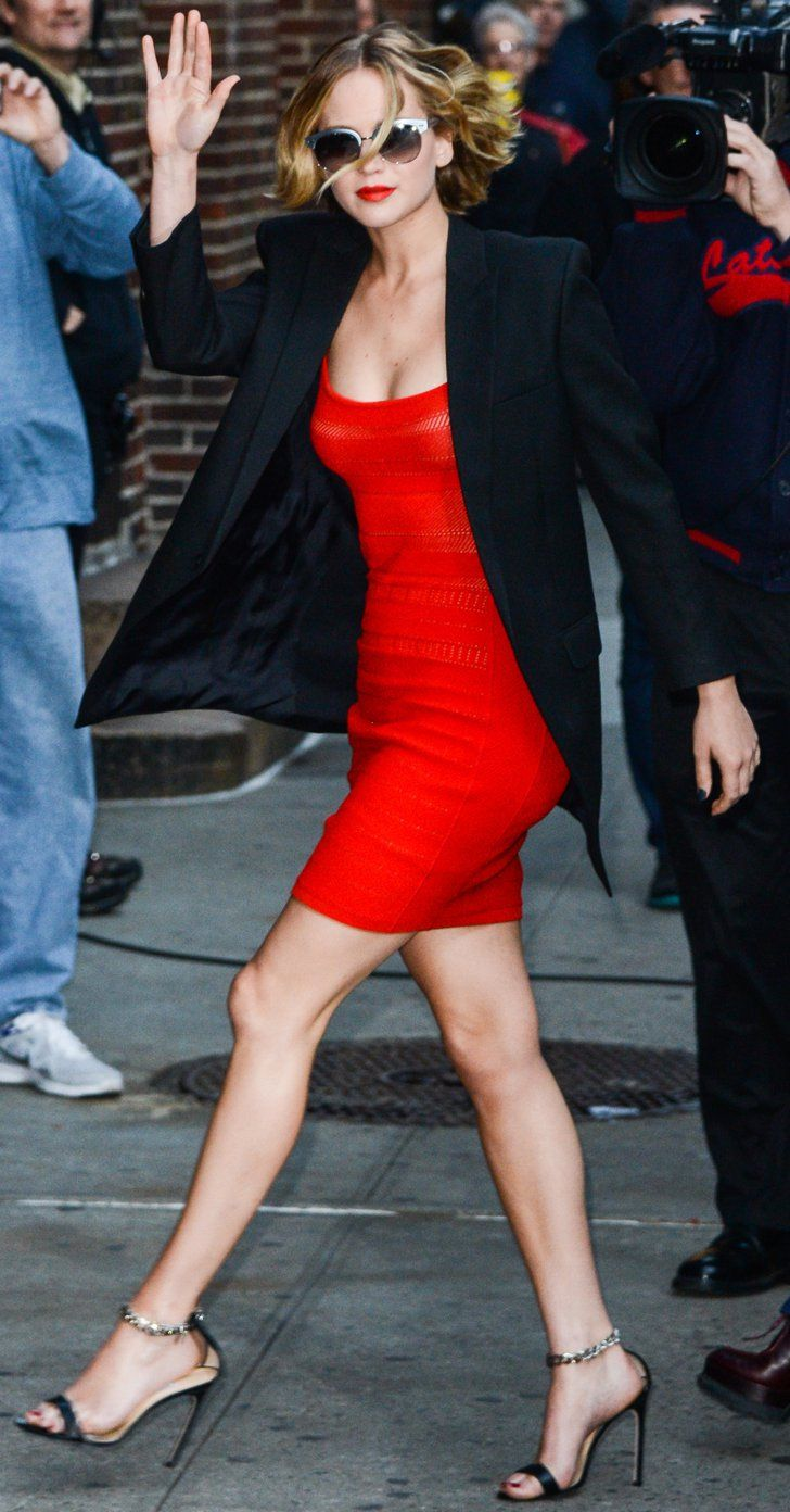 Pin for Later: Jennifer Lawrence Has a Red-Hot Moment in NYC