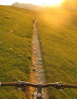 Perfect single track. I love Mountain biking! :)