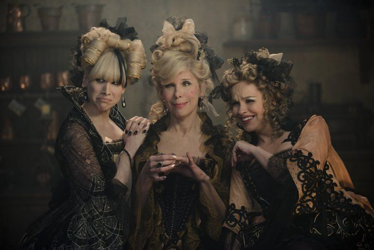 Pin for Later: Into the Woods: Here Are All of the Incredible Pictures  Lucy Punch as Lucinda, Christine Baranski as Cinderella's Stepmother, and Tammy Blanchard as Florinda.