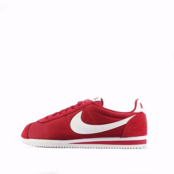 Nike Classic Cortez Nylon Men's Shoes Red/White