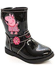 Mr Shoes - Botas de Material Sintético para niña Negro negro 16.00