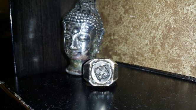 majapahit silver button coin mount on Silver Ring http://www.nusantarantik.blogspot.com