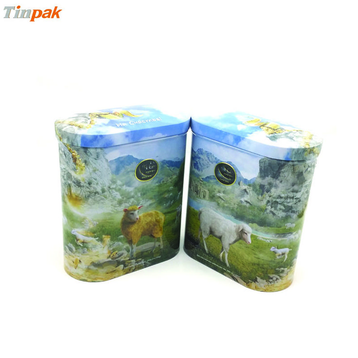 Domed lid with 3D emboss best show the concerpt of this ceylon tea tin box. Food grade material for this tea tin box is good for tea packing.