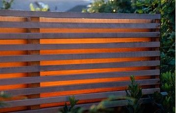 slatted timber fence negative detail - Google Search
