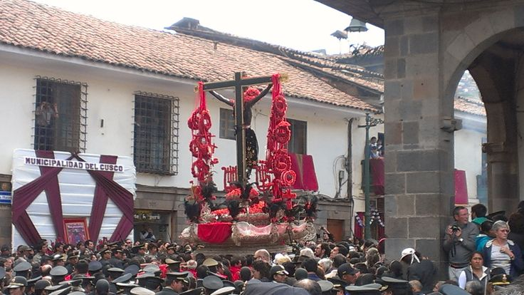 Cusco celebrated Señor de los Temblores yesterday by carrying the shrine of Jesus all around the city: http://www.amautaspanish.com/blog/experiencing-semana-santa-cusco-peru/