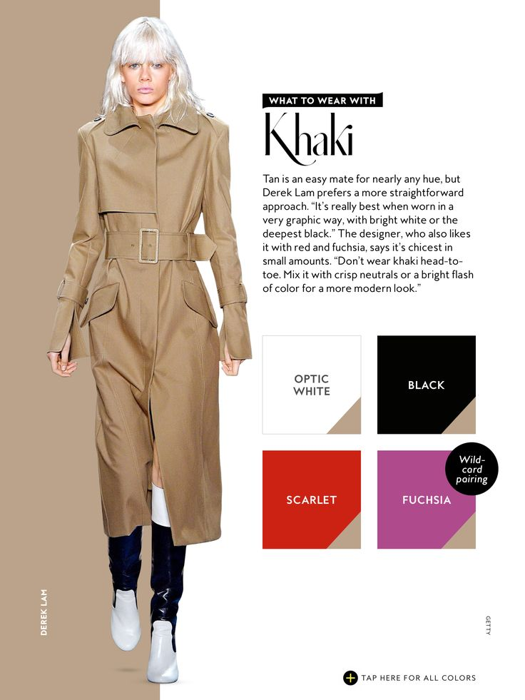 what to wear with InStyle Fall 2016 Khaki