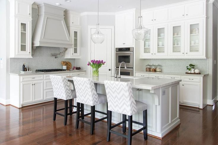 Quartzite Countertops Gray Kitchens And White Cabinets On
