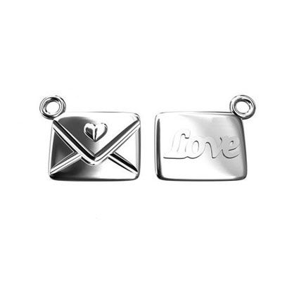 10mm Love Letter Charm Sterling Silver