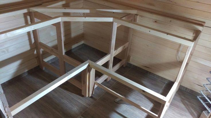 Sauna bench frame