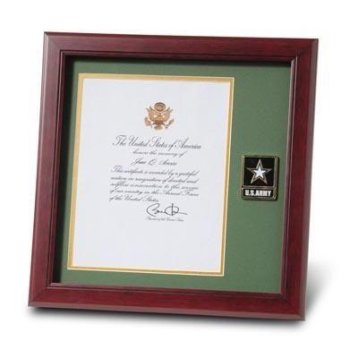 Army Presidential Memorial Certificate Frame with Go Army Medallion