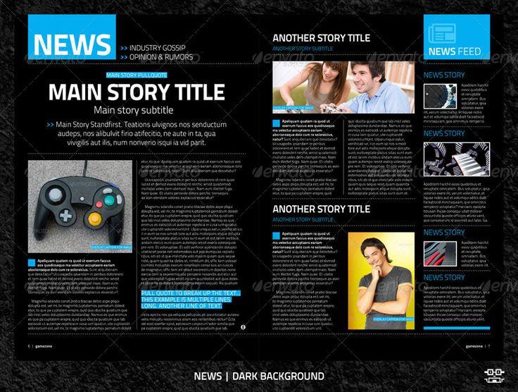 Gamezone Template (News - Dark)