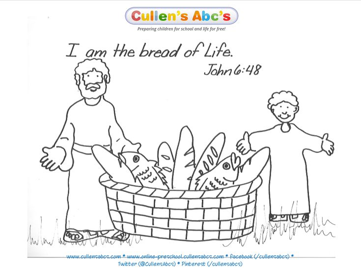 bread of life coloring pages - photo#5