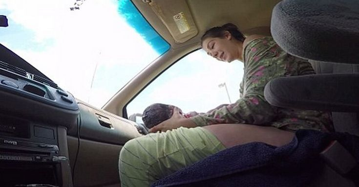 Husband Films His Wife Giving Birth To 10 Pound Baby…While He's Driving! via LittleThings.com