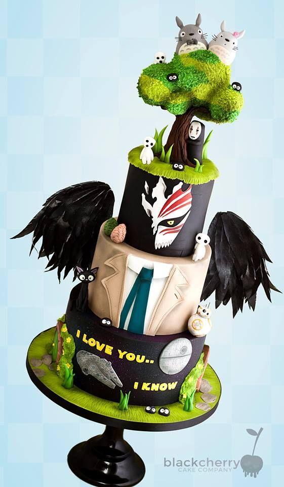Mash-up wedding cake