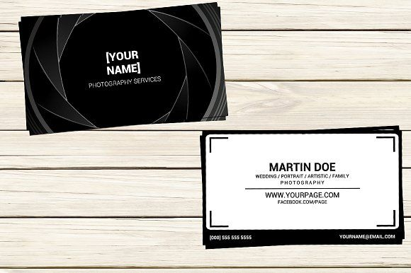 Photographer Business Card Template Photographer Business Cards