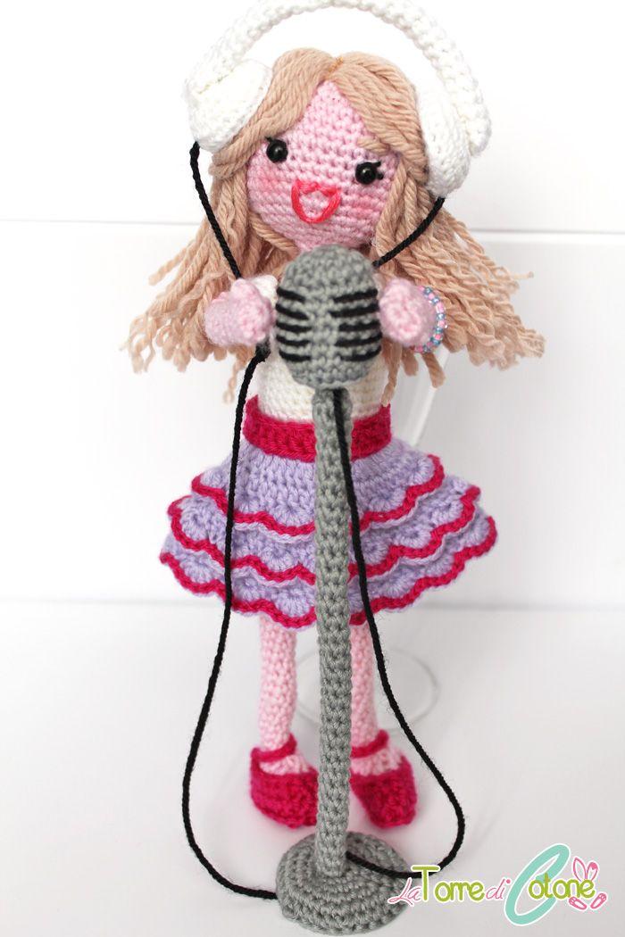 Violetta della Disney amigurumi, schema gratuito #amigurumi #crochet #doll