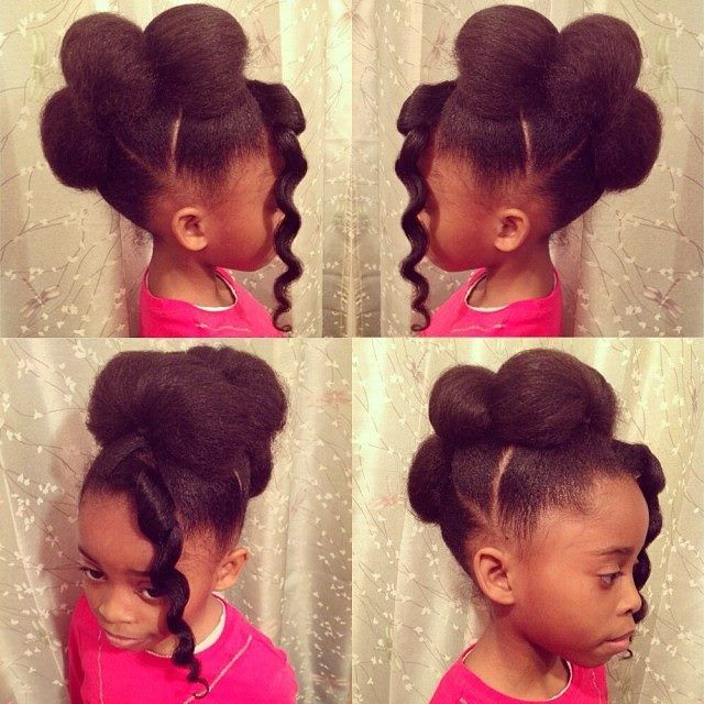 Pleasant 1000 Images About Natural Kids Mohawk Updos On Pinterest Short Hairstyles For Black Women Fulllsitofus