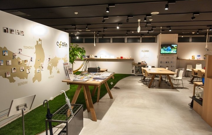 Coworking space cocolin sendai city japan coworking Coworking space design ideas