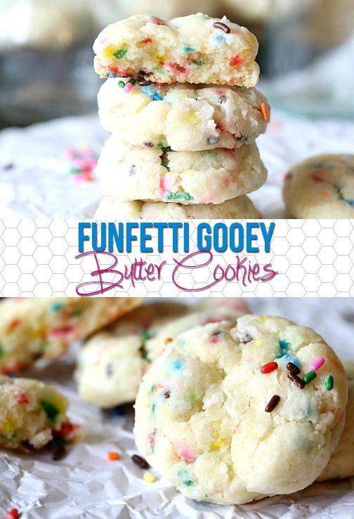 Gooey Butter Funfetti Cookies!