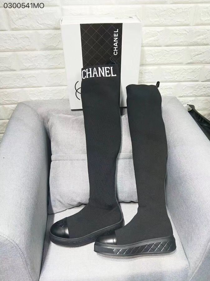 a7d604fad25 Chanel woman shoes sock boots tight high long boot