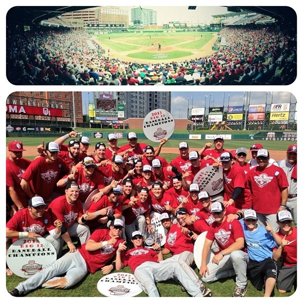 @OU_Baseball BIG 12 CHAMPS! Oklahoma Strong and Sooner Proud. Way to go, guys! (Top photo by @David Nilsson Nilsson Forester ) #boomersooner #soonerwknd #oubaseball #soonerbaseball